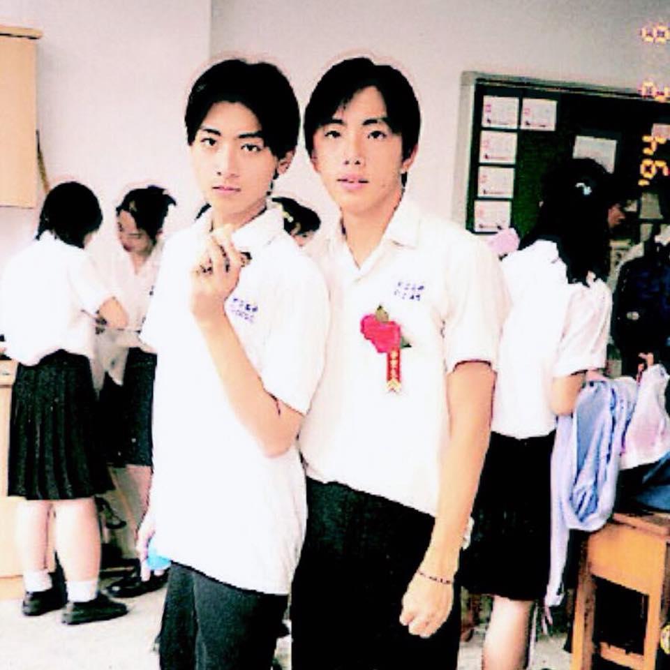 坤達貼上與Toro高中時期的照片。(翻攝自坤達臉書)