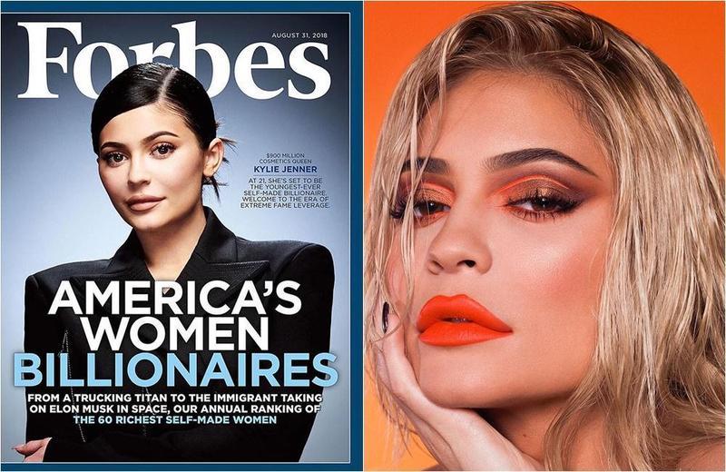 凱莉珍娜即將成為史上最年輕10億美元富豪。(左圖取自東方IC,右圖取自Kylie Jenner IG)