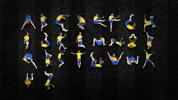 明星球員內馬爾因為「假摔事件」引起熱議,巴西設計師雅各布(Luciano Jacob)將內馬爾翻滾動作化為26個英文字母,並命名為「Ney type(圖片來源/Luciano Jacob臉書)