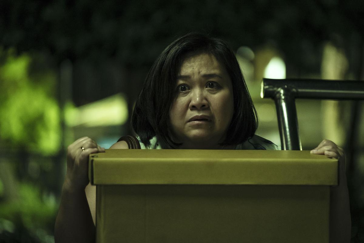 鍾欣凌在《貓的孩子》單元中與孩子相愛相殘,令人一掬同情之淚。(公視提供)