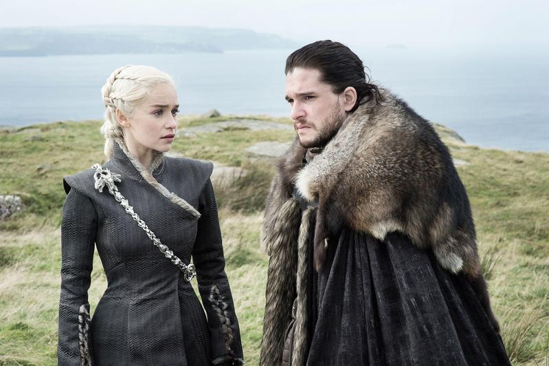 HBO的招牌影集《冰與火之歌:權力遊戲》,今年以22項入圍,是所有節目的入圍數目之最。(東方IC)