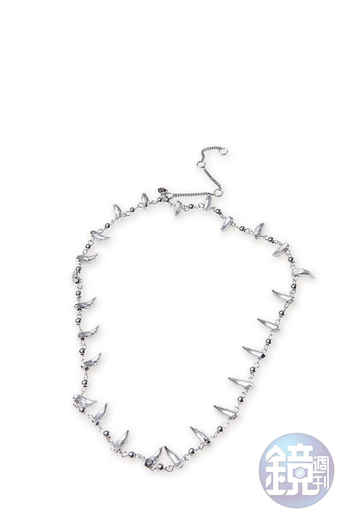 朋友自創品牌NE.SENSE狼牙項鍊。NT$9,600