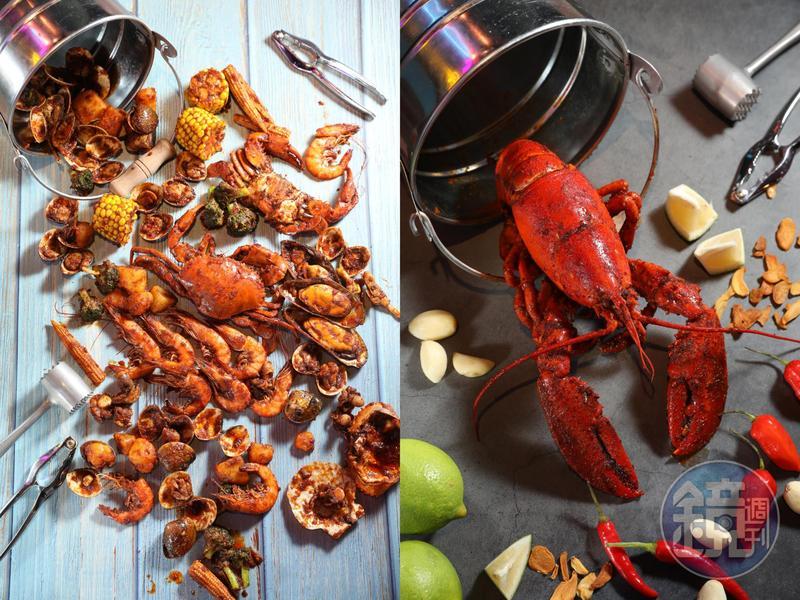 來自馬來西亞的手抓海鮮品牌「Shell Out」主打南洋風味。