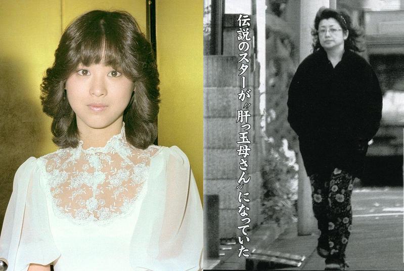 松田聖子(左)當年是一代女偶像,不過《週刊文春》的票選她最終輸給了傳奇的山口百惠(右)。山口百惠最近被週刊拍到近影,並以「劣化」形容。(翻攝《週刊文春》網站、webpoke.net)