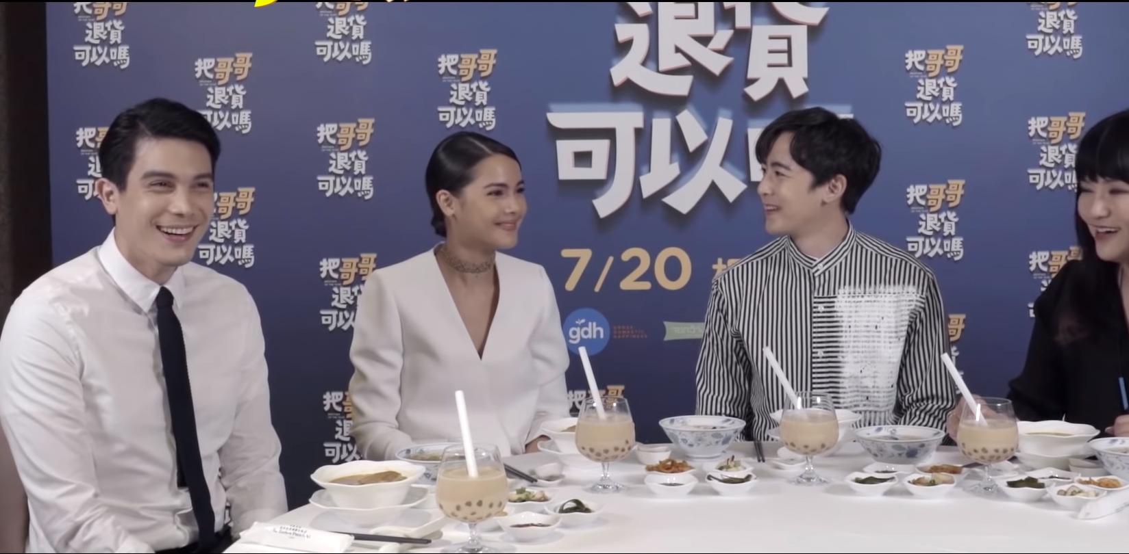唐綺陽準備了許多台灣小吃招待三位主演,Yaya表示她最愛的是豆花。(翻攝自youtube)