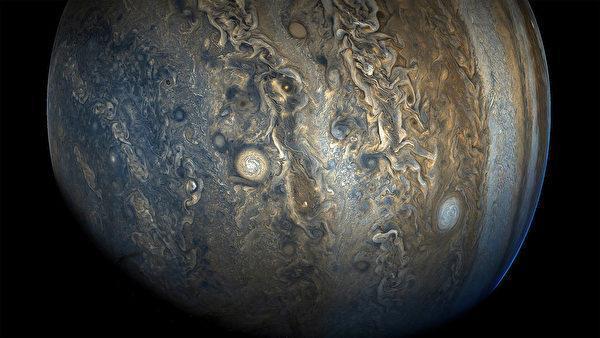 木星 (圖源:NASA/JPL-Caltech/SwRI/MSSS/Gerald Eichstädt and Seán Doran)