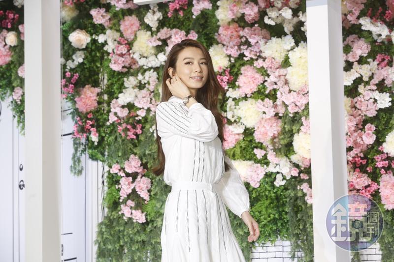 Hebe田馥甄第6年代言同品牌手錶。