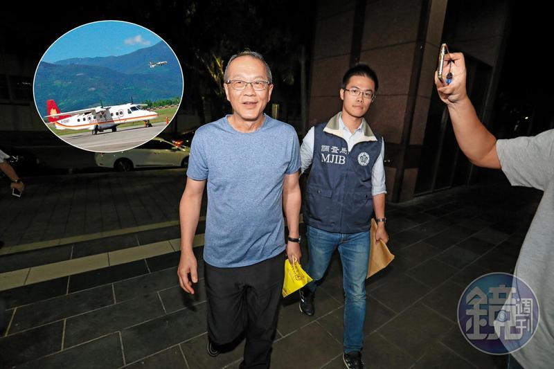 德安集團負責人黃春發(左)23日遭檢調約談,涉嫌以境外公司高價租飛機給德安航空,再向民航局詐領離島偏遠航線補助。