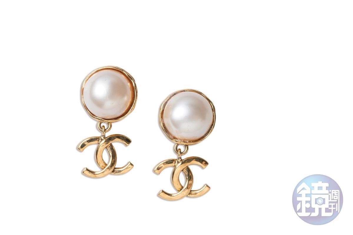 CHANEL古董耳環。約NT$9,000