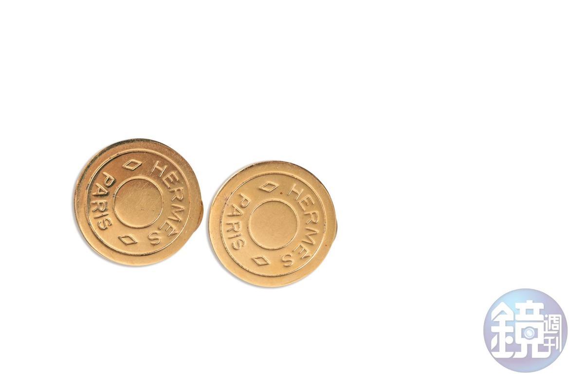 Hermès古董耳環。是六月送的26歲生日禮物