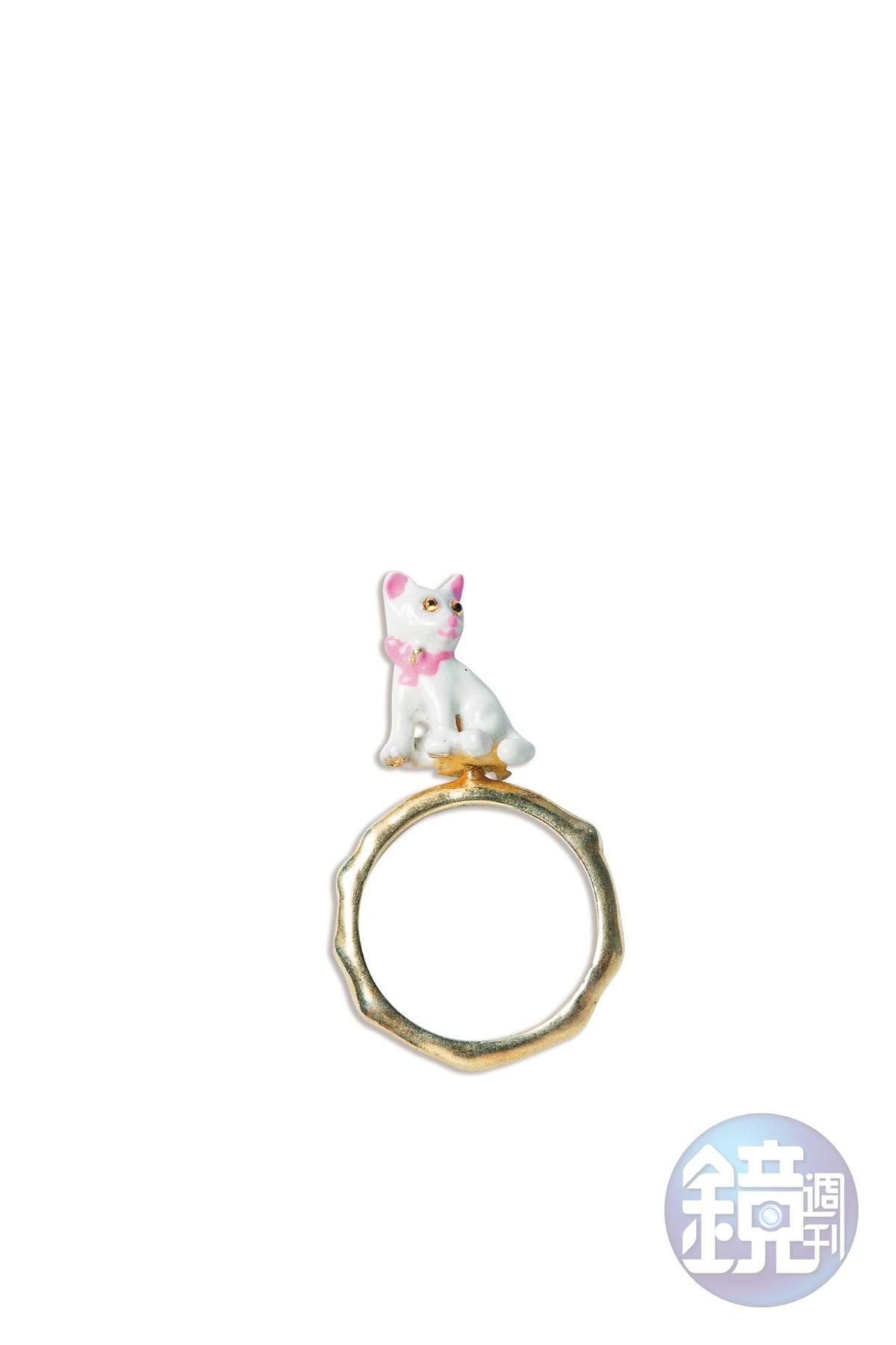 Les Néréides  貓咪戒指。約NT$3,000