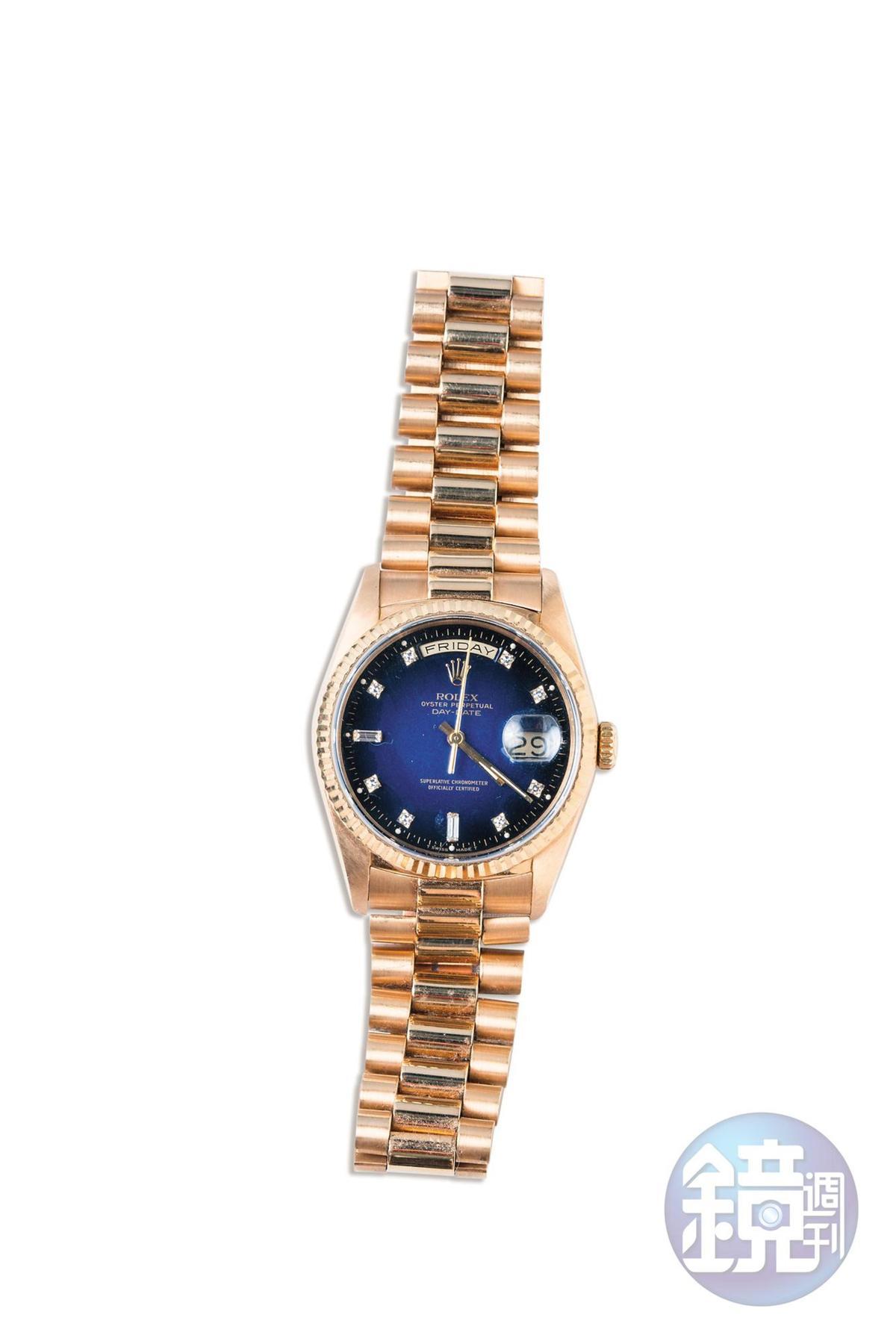 ROLEX Day-Date手錶。是從老公手上拿下來的