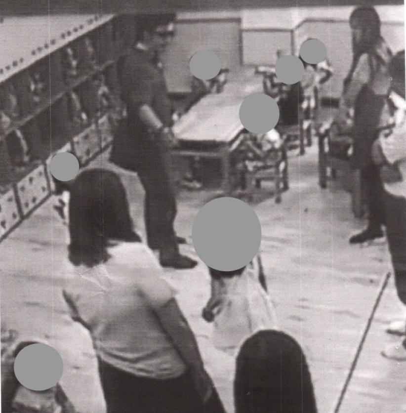 花蓮地檢署檢察官林俊佑(左上方戴墨鏡者)被爆濫權到女兒就讀的幼兒園恐嚇孩童。(李麗芬辦公室提供)