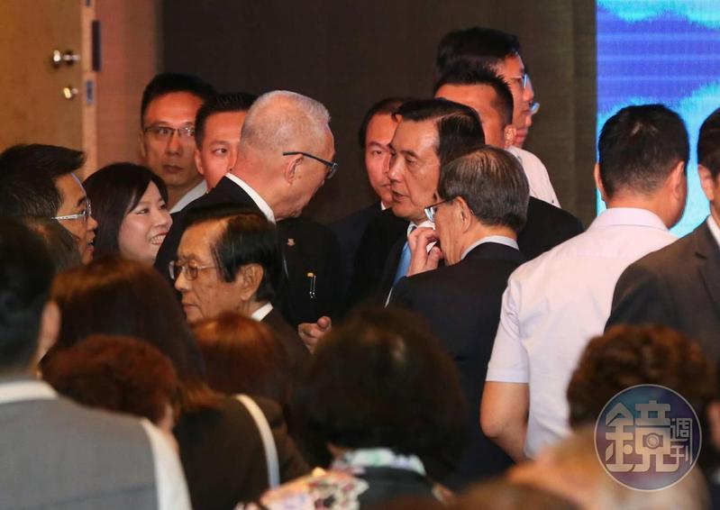 馬英九基金會今舉行成立茶會,黨主席吳敦義前來致意。