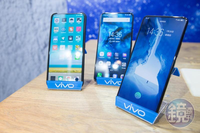 vivo目前在台有5款產品,登台不到半年已在5月擠入台灣市場前10大手機品牌。