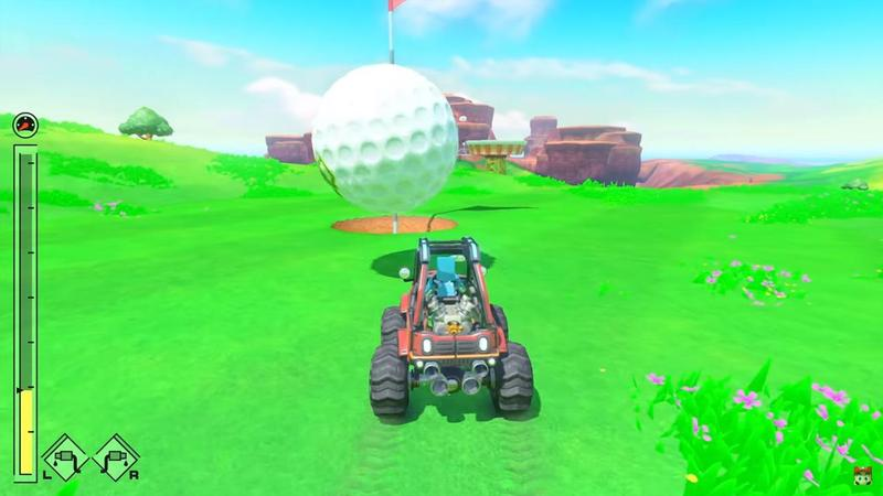 任天堂Labo第三彈「Vehicle Kit(Drive kit)」可以讓玩家縱橫海陸空之間,還有類似高爾夫球的小遊戲。(翻攝自Youtube)