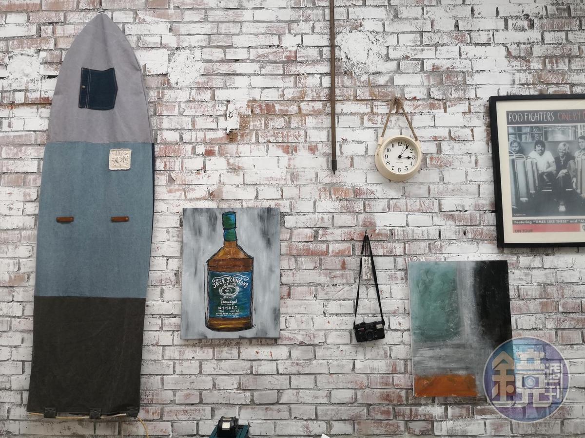「Tanned Gal」工作室內的牆面上,就是一幅美麗圖案。