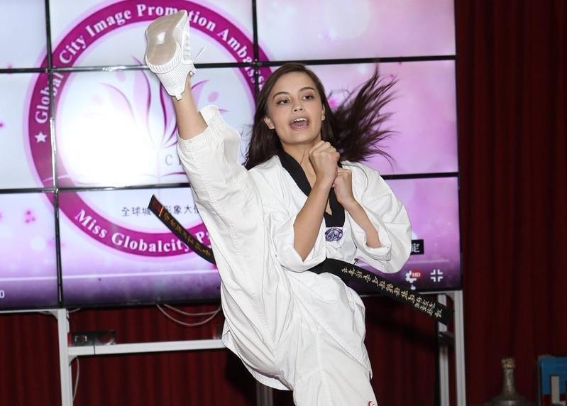 參演衛子雲電影「武術奇蹟」的李棠霓也是這次參賽選美佳麗。(全球城市小姐選美協會提供)