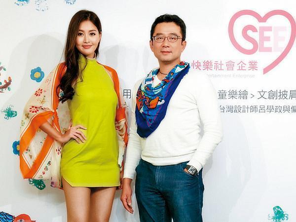 趙士懿(右)曾被封為「寶來F4」,目前在台經營「用心快樂」社會企業。左為林葦茹。(用心快樂社會企業提供)
