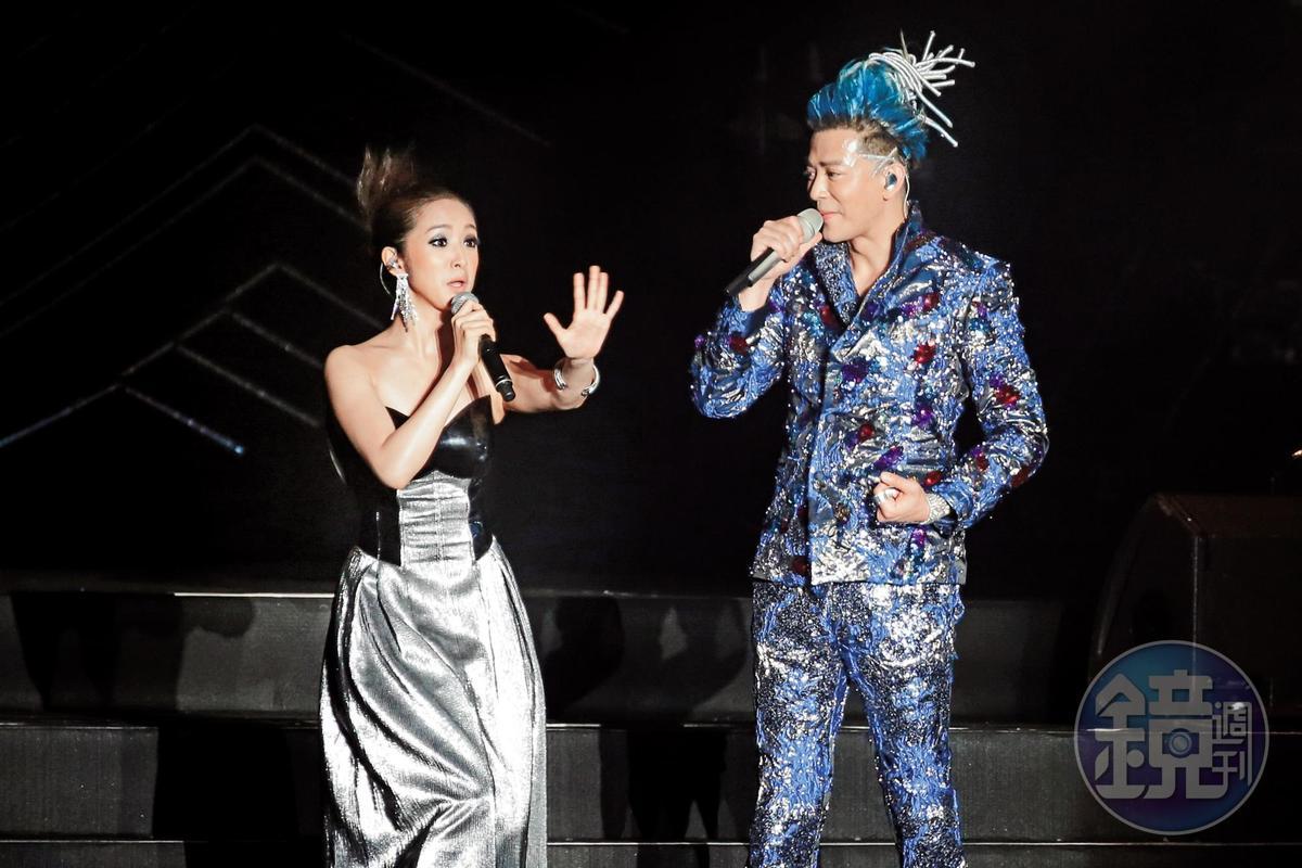 林依晨雖然是陳曉東的演唱會嘉賓,但驚恐表情卻非常搶戲,不愧是得過金鐘獎的肯定。