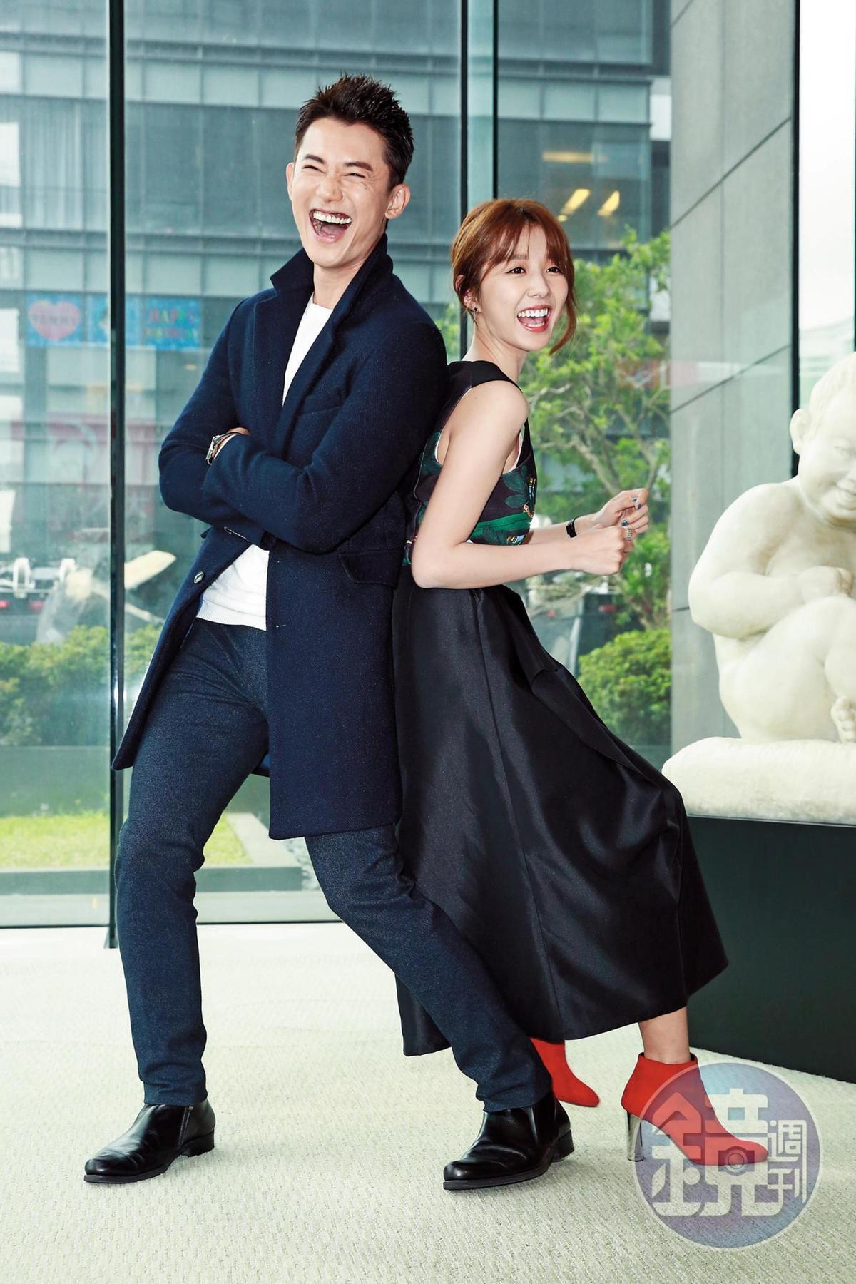 邵雨薇(右)拍《極品絕配》時甩了張立昂,並跟戲中的男主角吳慷仁(左)私下出去約會。