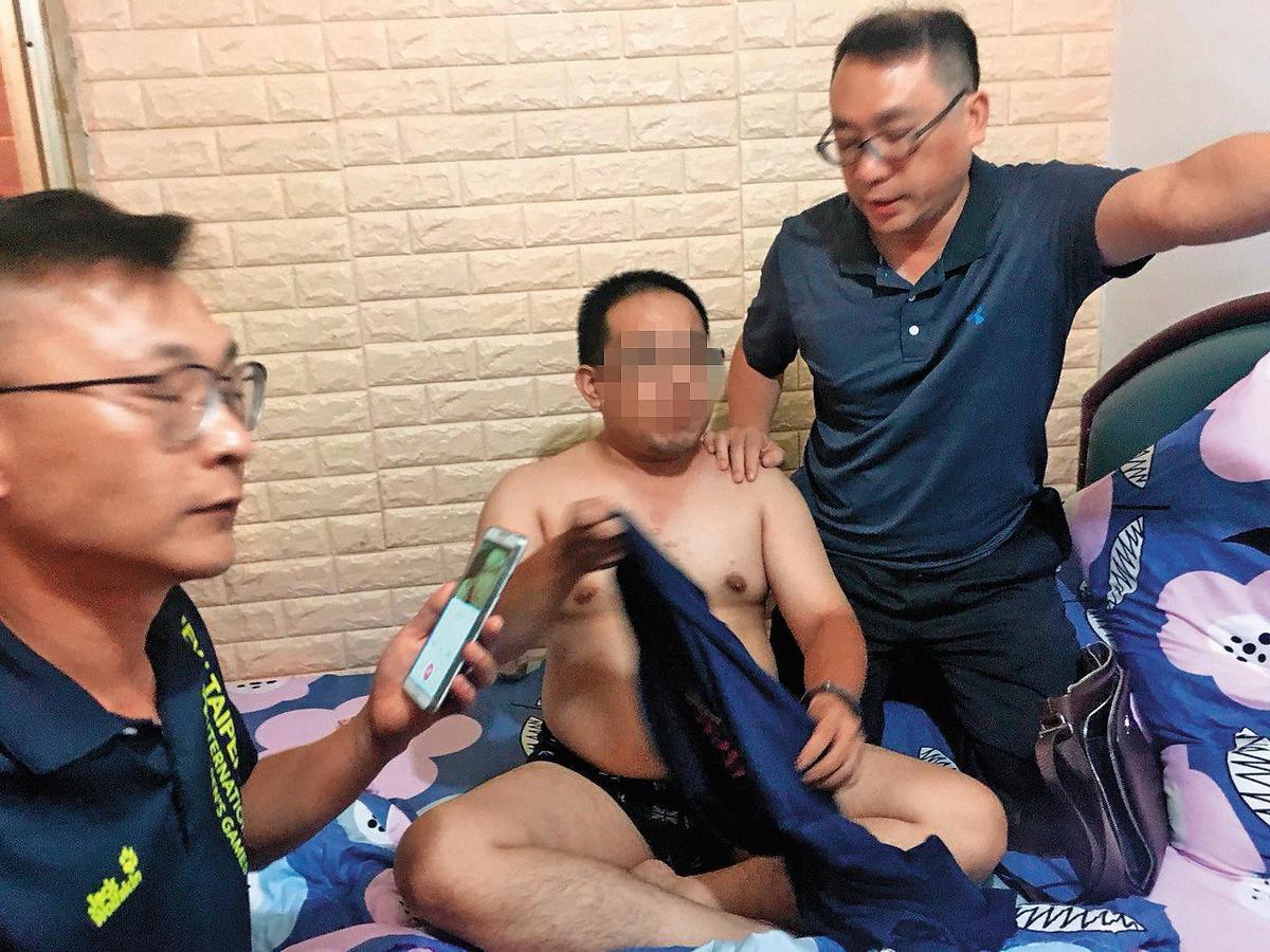 林嫌(左)犯案後逃亡28小時,最終仍被警方逮捕。(翻攝畫面)