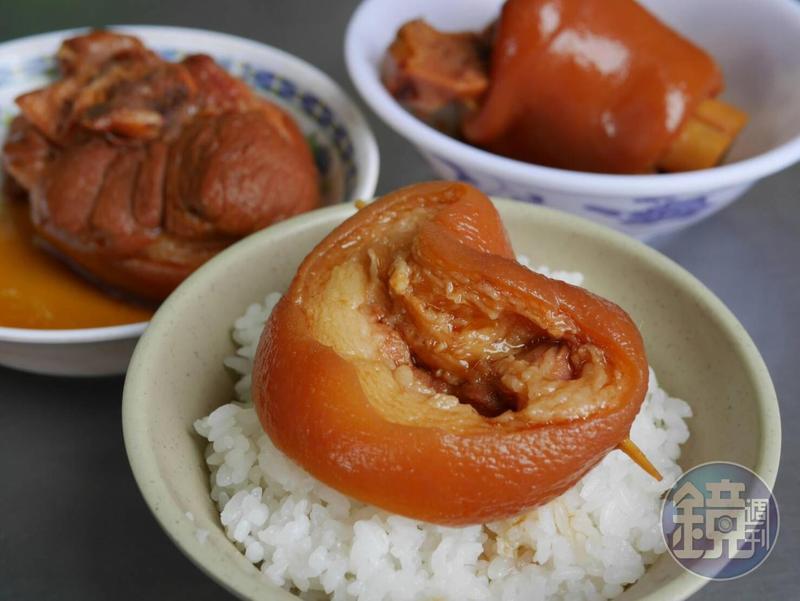 單份45元的阿和爌肉飯,是吳景亮回台必吃的美食。(阿和爌肉飯提供)