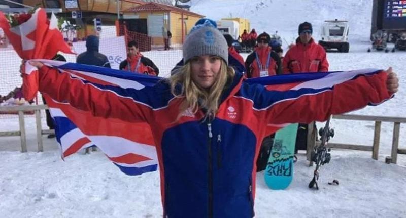 英國滑雪女將Ellie Soutter選在18歲生日當天自殺,家屬悲痛萬分。(翻攝自TEAM GB)