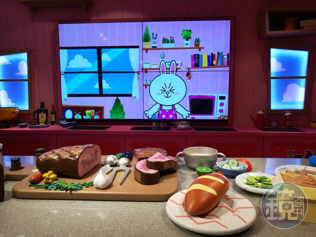繽粉可愛的兔兔Cony廚房。