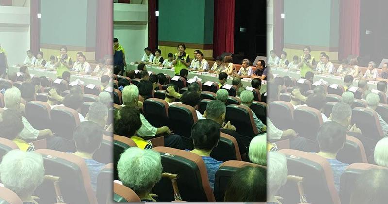 羅東鎮公所澄清,昨晚座談會場與選舉造勢無關,民進黨籍民代、候選人也同樣有發言機會。(羅東鎮公所提供)