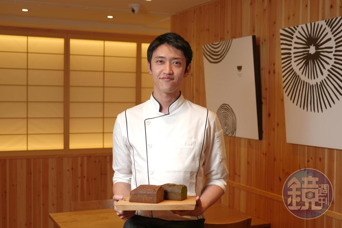 日本「Lilien Berg」甜點師吉澤建介應邀來台研發常溫甜點,去年夏天為了試做就飛來2次,預計會在台灣待1年。