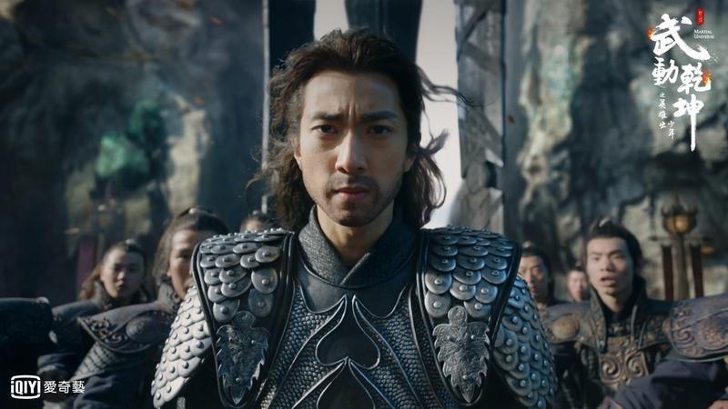 吳尊闊別螢幕7年,在陸劇《武動乾坤》飾演反派,獻出第一次。(愛奇藝台灣站)