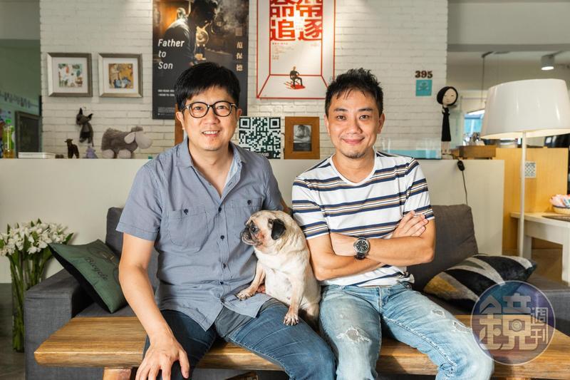 蕭雅全(右)與侯志堅是高中同學,也是長期的合作拍檔。