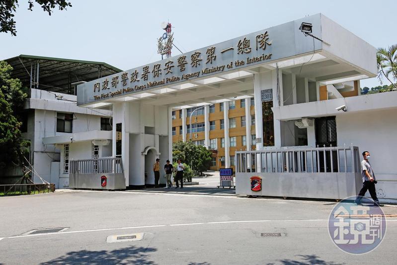 違反《公務員服務法》在外兼職的警員盧膺中任職於保一總隊。