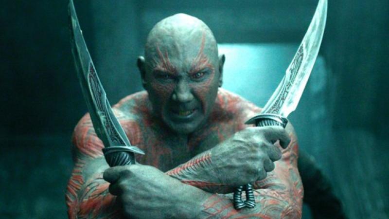 在《星際異攻隊》扮演德克斯的戴夫巴蒂斯塔發推嗆聲為迪士尼工作「很噁心」,但他還是會照合約演出《星際異攻隊3》。(翻攝YOUTUBE)