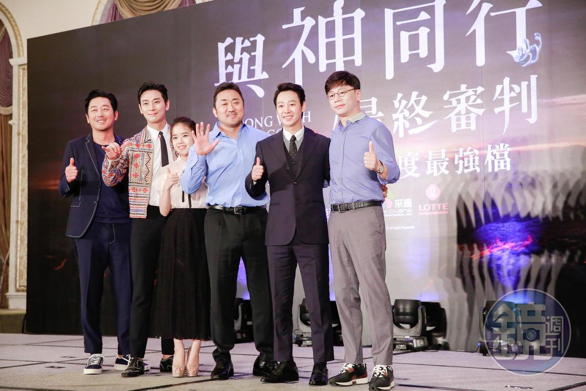 帶著感激台灣影迷支持的心意,導演金容華與演員群特地訪台。