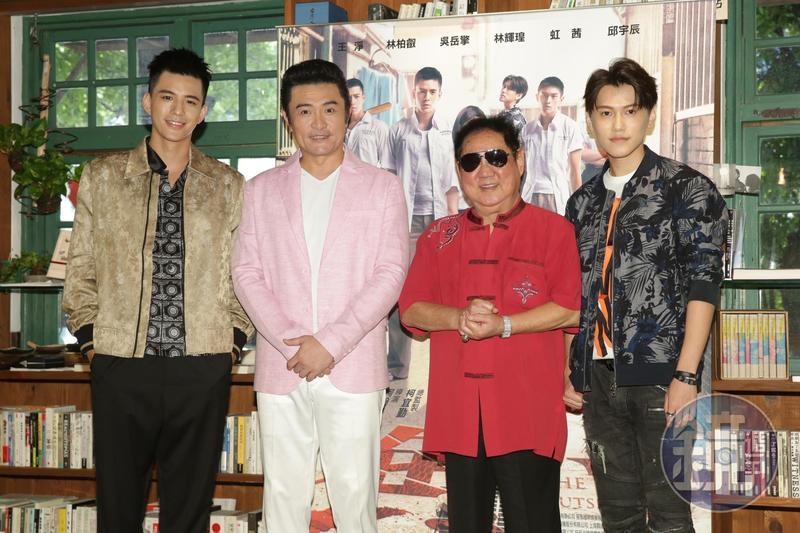 《鬥魚》電影版7日舉辦媒體茶敘,主要演員林柏叡、邱宇辰、李㼈、馬如龍出席暢談在電影中的情與義。