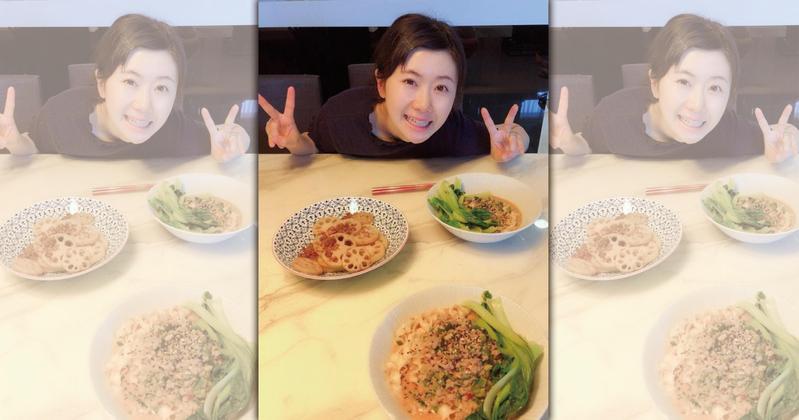 江宏傑在自己微博上傳一張福原愛的照片,大秀恩愛。(翻攝自江宏傑微博)