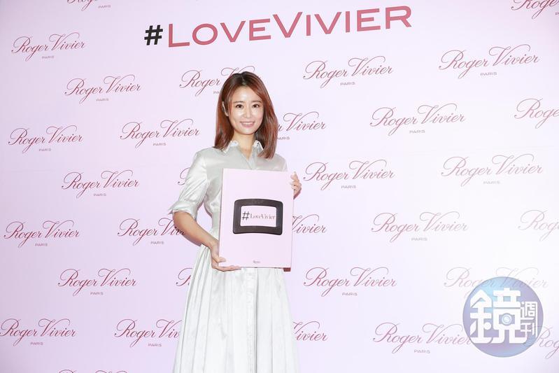 林心如出席Roger Vivier全新書籍《#LoveVivier》媒體發佈會。