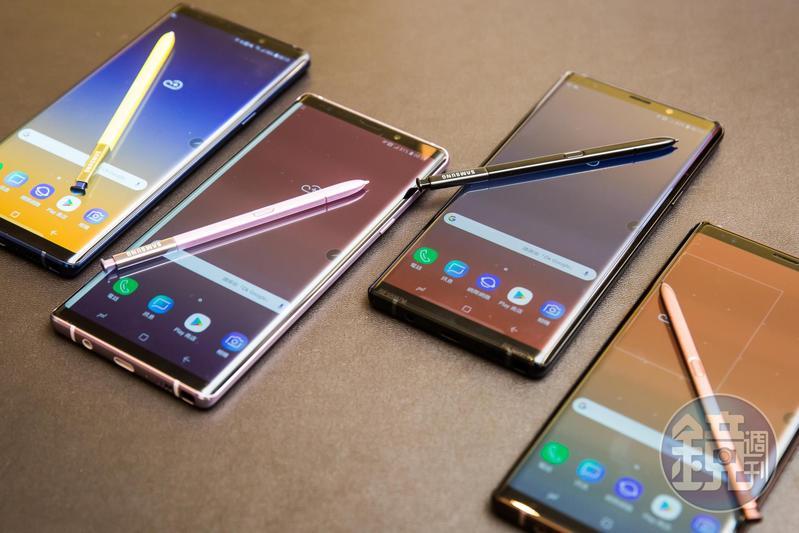 導入全新科技的Note 9,不但效能更高、儲存容量與電池容量跟著加大。