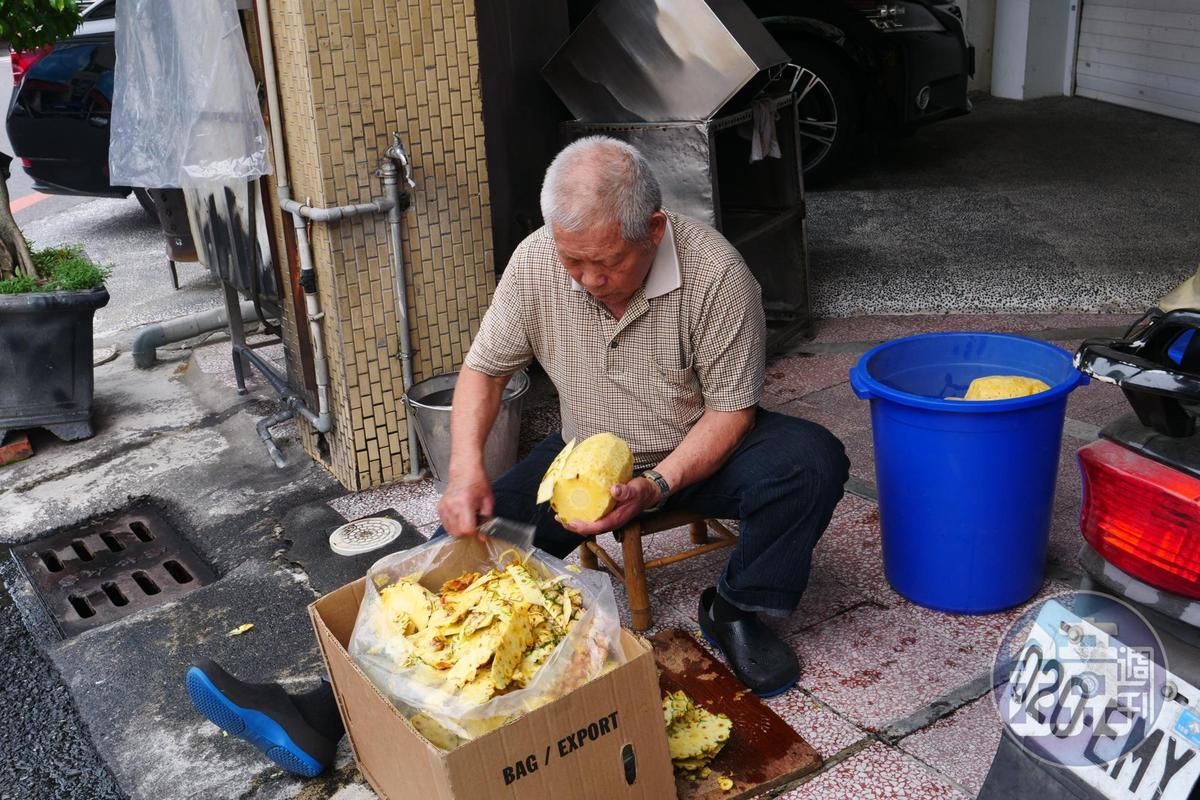 使用的蜜漬水果都是老闆每天製作。