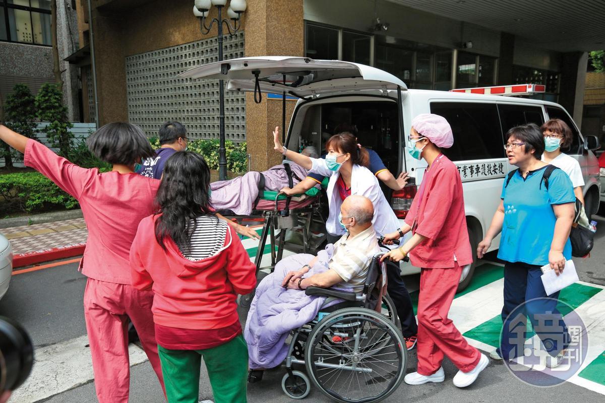 有病患被撤離後,轉送往其他醫院治療。