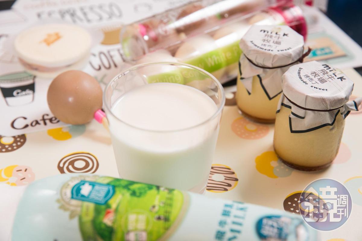 飛牛牧場自製乳製品項目多元,2009年取得乳源履歷認證,和北海道牧家牧場技術合作,研發獨家白布丁。