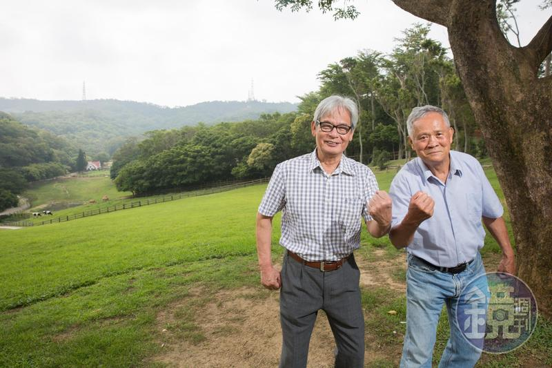 飛牛牧場由吳敦瑤(右)與施尚斌(左)2位7旬牛仔一手創建,吸引不少海外人士前來取經。