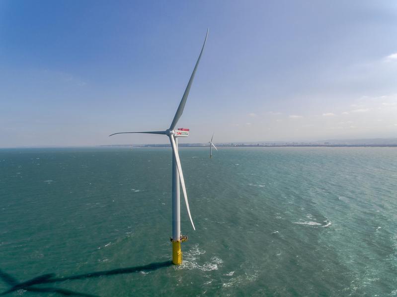 雖然風電股近月大幅修正,但林適中看好離岸風電是未來20年趨勢產業,反而趁拉回時加碼。(翻攝自上緯官網)