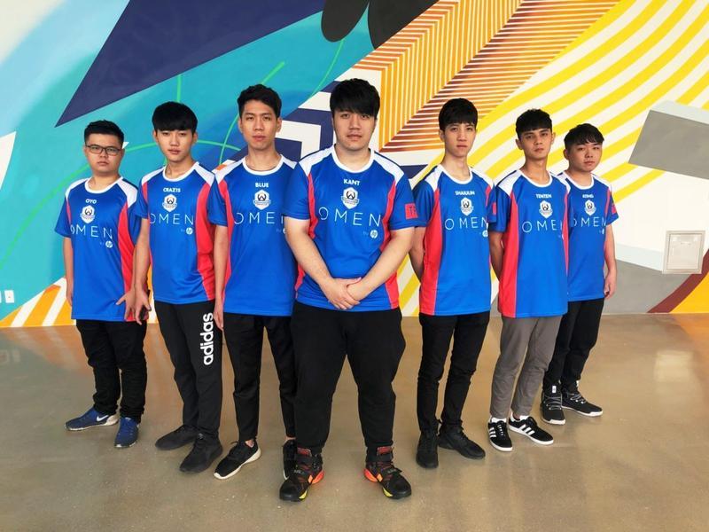 《鬥陣特攻》世界盃台灣代表選手。(暴雪提供)