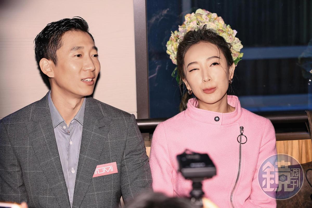 隋棠的右眼卡到陰,她也是本欄目的常客,出席公開活動常有精彩表現,倒是老公表現比較平平。