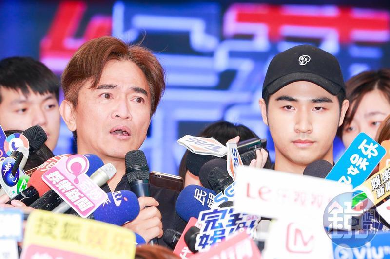 吳宗憲和兒子鹿希派日前舉辦記者會,對炸市府言論公開道歉,吳宗憲直言要兒子退出演藝圈。