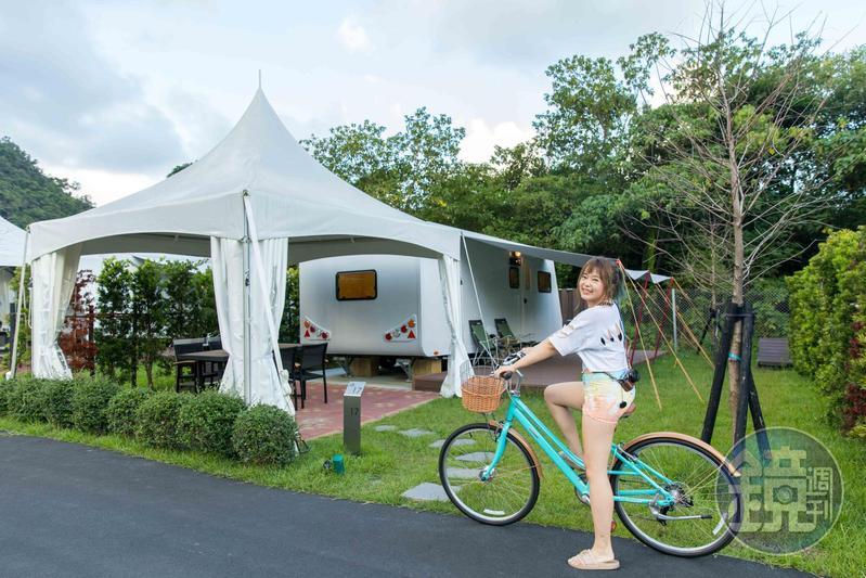 礁溪老爺酒店引進新的露營車設備。