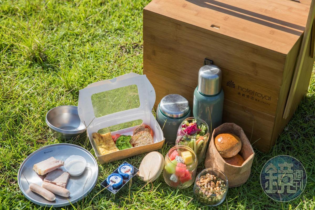 早餐也設計出特色的露營式早餐。